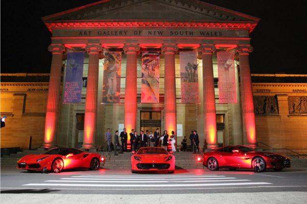 LED Up Lights Ferrari Car Launch