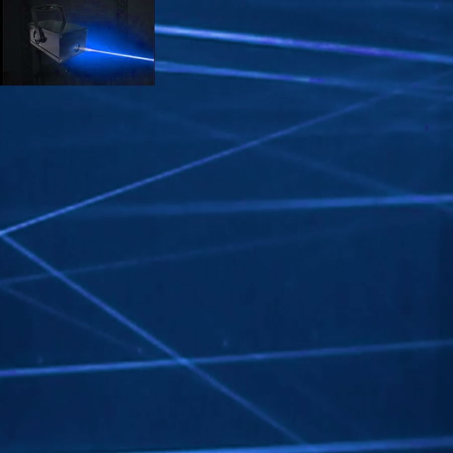 Blue Fat Beam Laser
