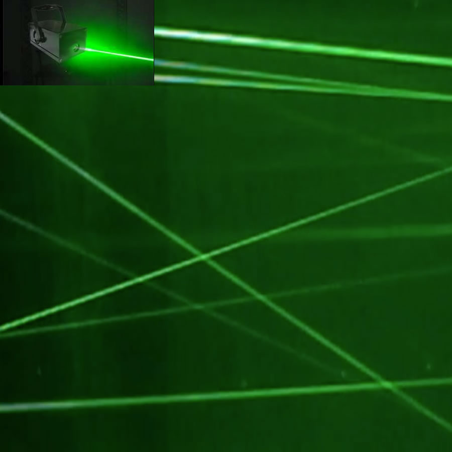 Green Fat Beam Laser