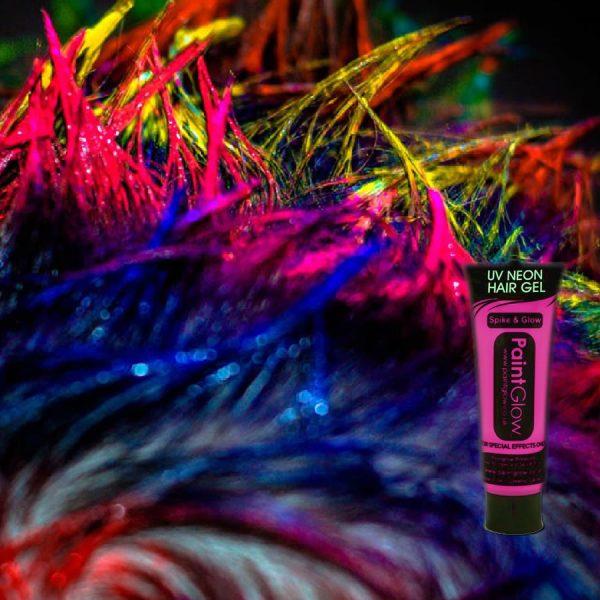 Pink UV Neon Hair Gel