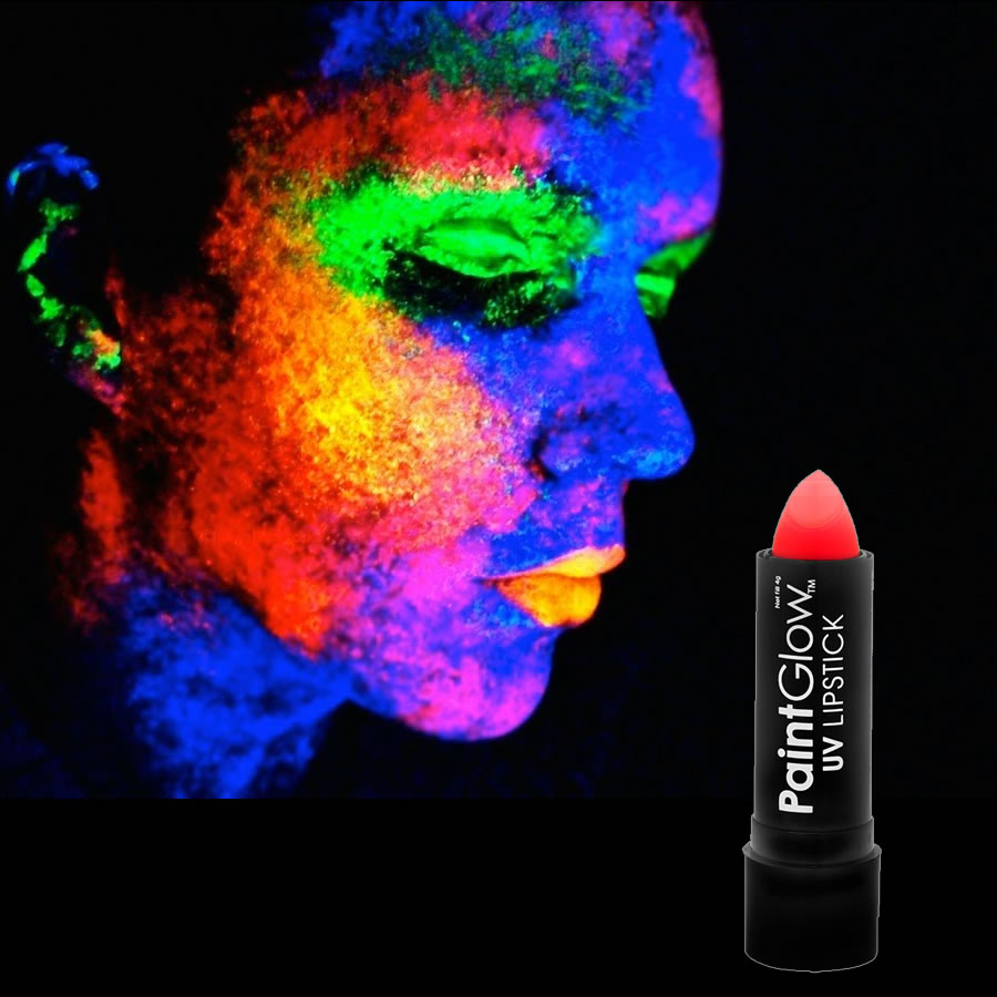 Red UV Neon Lipstick