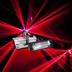 Strobe, Smoke Machine & Laser Package