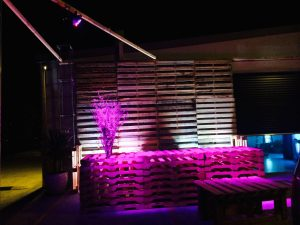 LED outdoor lighting hire