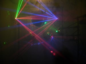 Laser and mirror ball