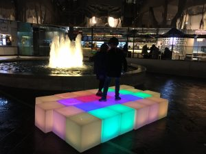 Glow Cubes Outside
