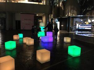 Hire LED Glow Cubes