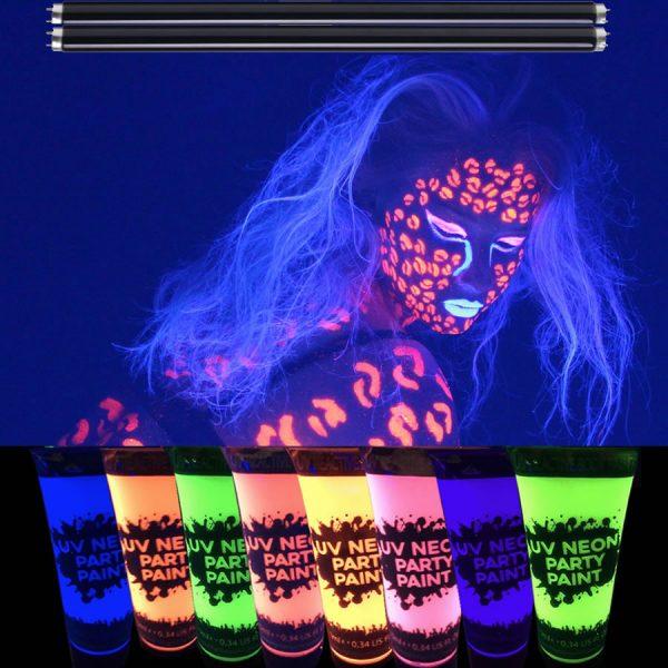UV Lighting & Face Paint Package