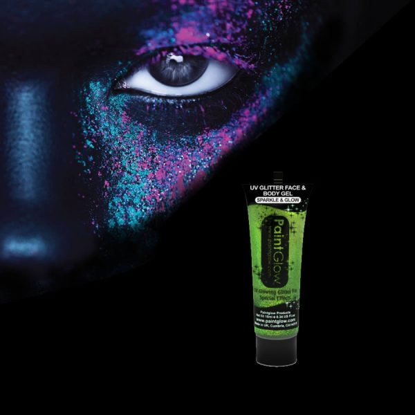 Green UV Glitter Gel