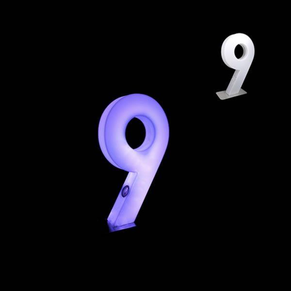 glow numbers number nine