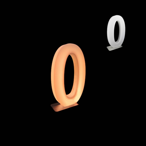 glow numbers number 0