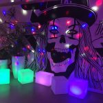LED Crystall ball with glow cubes