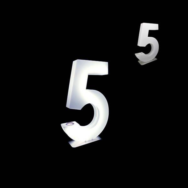 glow numbers number five