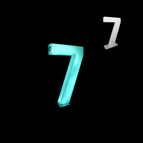 glow numbers number seven