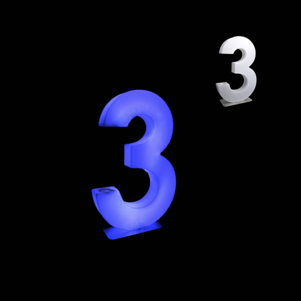 glow numbers number three
