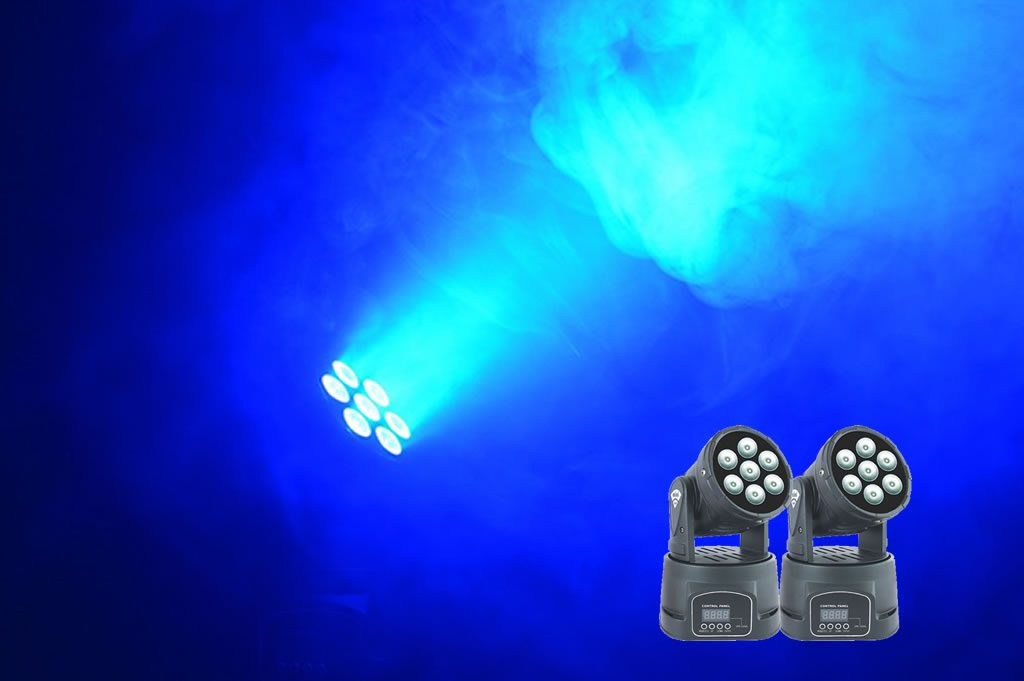 mini moving heads with smoke machine