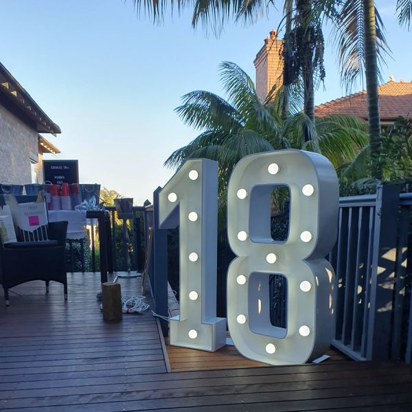 18 light up numbers