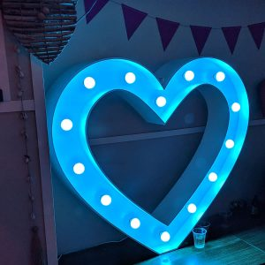 blue love light up letters