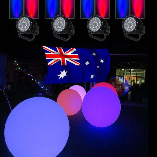 australia day party lights